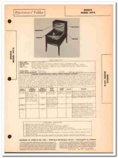 bendix model 697a 6-tube am radio phonograph sams photofact manual