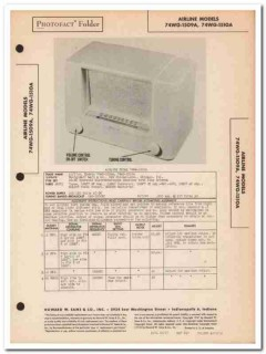 airline model 74wg-1509a 1510a am radio receiver sams photofact manual