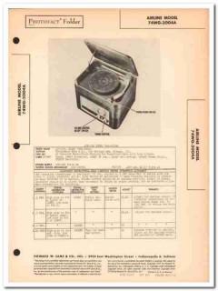 airline model 74wg-2004a am radio phonograph sams photofact manual