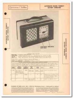 automatic model tom boy 4-tube am radio receiver sams photofact manual