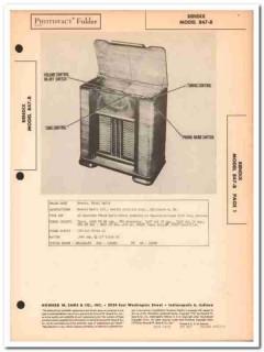 bendix model 847-b 8-tube am fm radio phonograph sams photofact manual