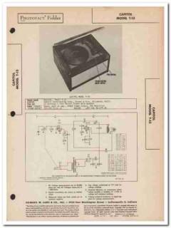 capitol model t-13 3-tube record phonograph sams photofact manual