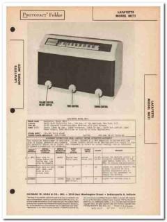 lafayette model mc11 6-tube am radio receiver sams photofact manual