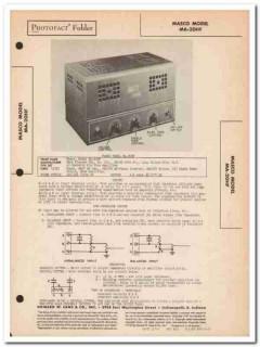 masco model ma-20hf 6-tube audio amplifier sams photofact manual