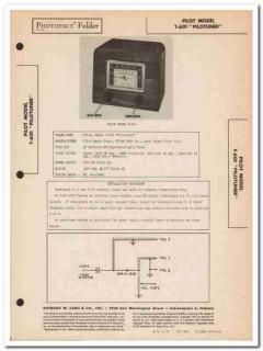 pilot model t-601 pilotuner fm radio tuner sams photofact manual