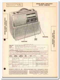 airline model 74wg-1056a 5-tube battery am radio sams photofact manual