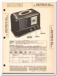 arvin model 664 664a 6640 am radio receiver sams photofact manual