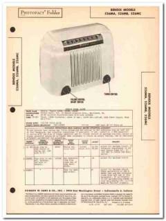 bendix model 526ma 526mb 526mc am radio receiver sams photofact manual
