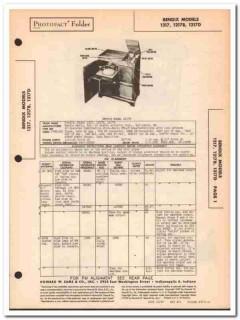 bendix model 1217x am fm sw radio phonograph sams photofact manual