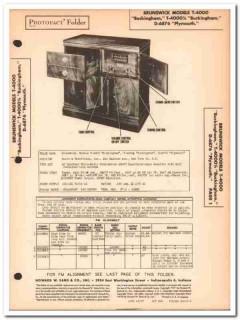 brunswick model t-4000 d-6876 am fm phonograph sams photofact manual