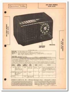 air king model a-511 a-512 5-tube am radio sams photofact manual