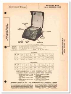 bell sound model rc-47 re-cord-o-fone phonograph sams photofact manual