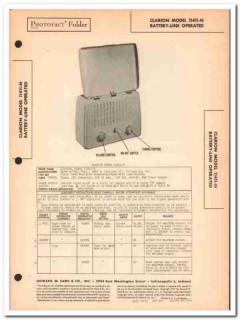 clarion model 11411-n 4-tube am radio receiver sams photofact manual