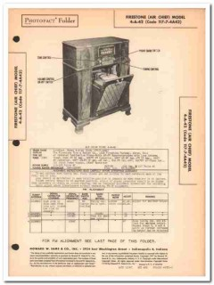 air chief model 4-a-42 10-tube am fm radio phono sams photofact manual