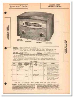 majestic model 8fm744 8-tube am fm radio sams photofact manual