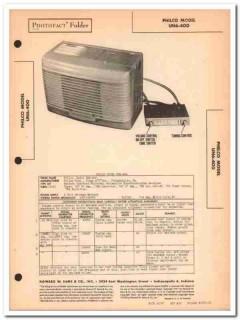 philco model un6-400 6-tube automotive am radio sams photofact manual