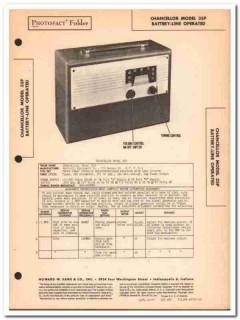 chancellor model 35p portable 4-tube am radio sams photofact manual