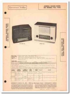 admiral model 7t01 7t04 5-tube am radio receiver sams photofact manual