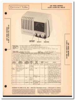 air king model a-501 a-502 5-tube am sw radio sams photofact manual