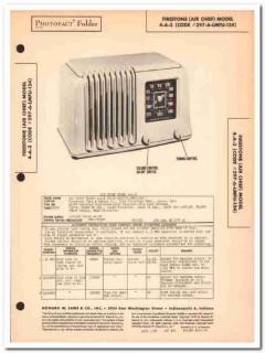 air chief model 1-a-3 6-tube am radio receiver sams photofact manual