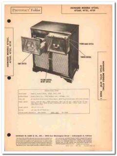 howard model 472ax 472x am fm radio phonograph sams photofact manual