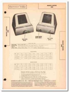 masco model jmr 3-tube 2-station office intercom sams photofact manual