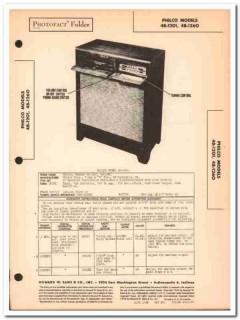 philco model 48-1201 48-1260 am radio phonograph sams photofact manual