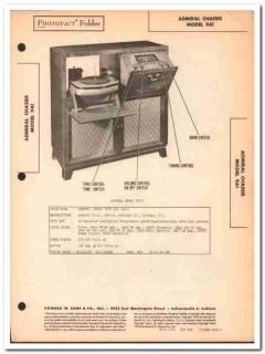 admiral model 9a1 9-tube am fm radio phonograph sams photofact manual