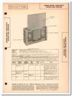 airline model 74wg-1057a battery 4-tube am radio sams photofact manual
