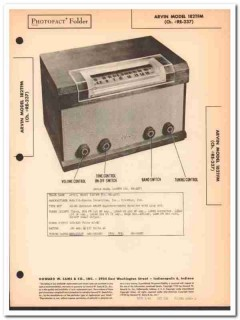 arvin model 182tfm 8-tube am fm radio receiver sams photofact manual