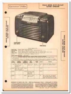 philco model 46-131 revised 4-tube am radio sams photofact manual