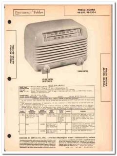 philco model 48-250 48-250-i 5-tube am radio sams photofact manual