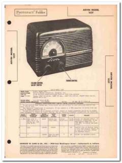 arvin model 152t 5-tube am radio receiver sams photofact manual