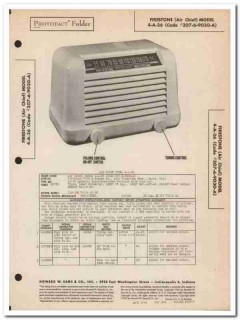 air chief model 4-a-26 5-tube am radio receiver sams photofact manual