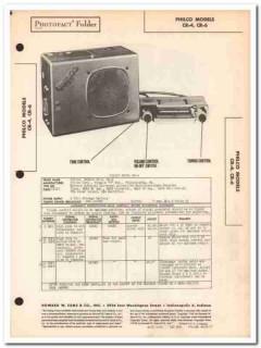 philco model cr-4 cr-6 6-tube am car radio sams photofact manual