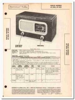 philco model 47-204 47-205 5-tube am radio sams photofact manual
