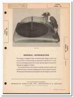 aviola model 100 record changer phono phonograph sams photofact manual