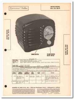 arvin model 442 re-91 4-tube am radio receiver sams photofact manual
