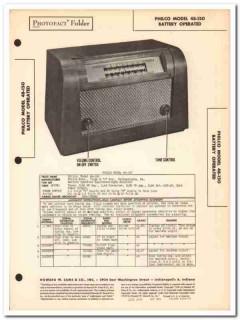 philco model 48-150 5-tube battery am radio sams photofact manual