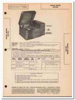 philco model 48-1254 6-tube am radio phonograph sams photofact manual