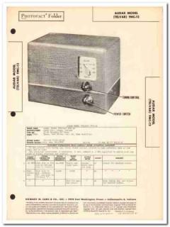 audar model fmc-12 telvar 2-tube fm radio tuner sams photofact manual