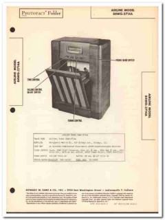 airline model 84wg-2714a 7-tube am fm phonograph sams photofact manual