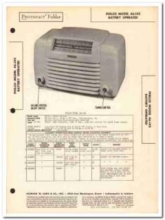 philco model 46-142 5-tube battery am radio sams photofact manual