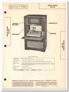 philco model 48-1264 9-tube am fm radio phono sams photofact manual