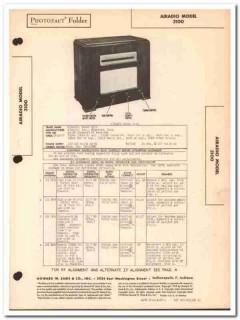 airadio model 3100 8-tube fm radio receiver sams photofact manual