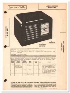 apex model 4b5 5-tube am radio receiver sams photofact manual