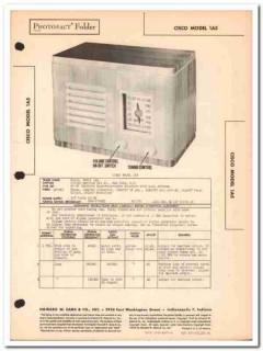 cisco model 1a5 5-tube am radio receiver sams photofact manual