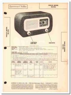 philco model 48-206 5-tube am radio receiver sams photofact manual