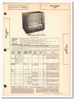 pilot model t-741 7-tube am sw radio receiver sams photofact manual