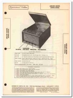 airline model 84wg-2015a am fm radio phonograph sams photofact manual